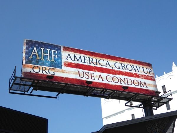 One of AIDS Healthcare Foundation's many condom billboards around LA