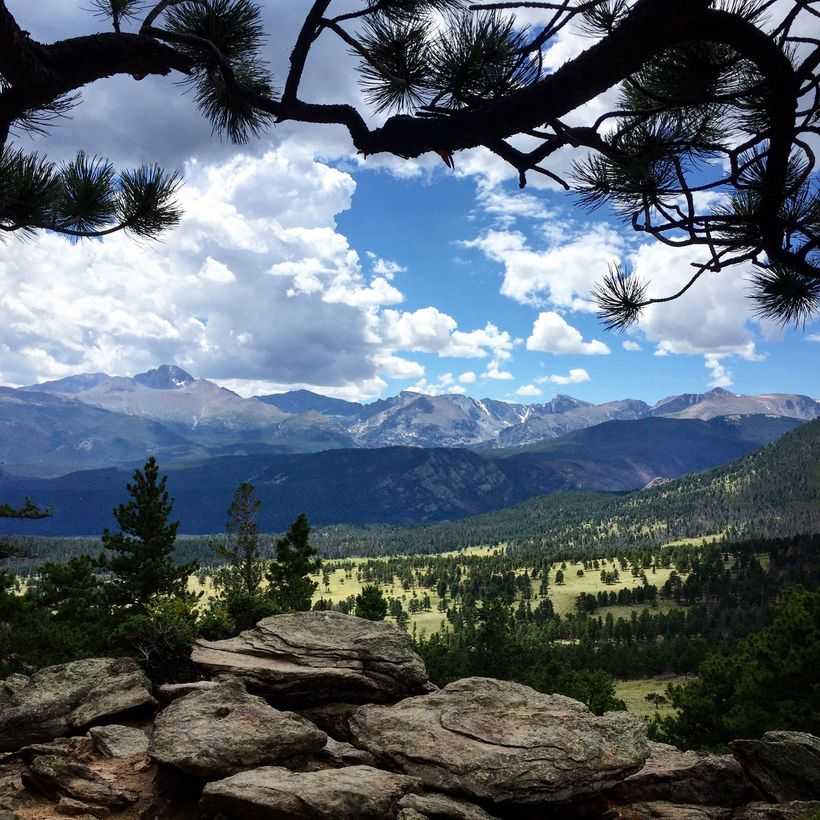 Longs Peak is the highest mountain in Rocky Mountain National Park.
