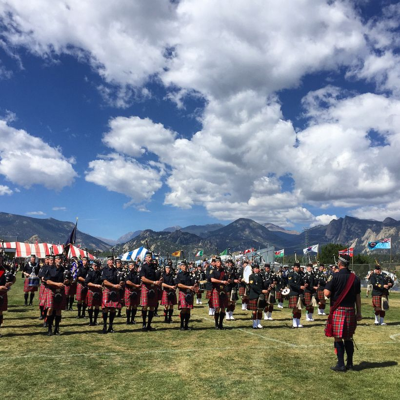 The Longs Peak Scottish Irish Festival features pipe bands, jousting, Scottish games, folk music, food, history, dance...and