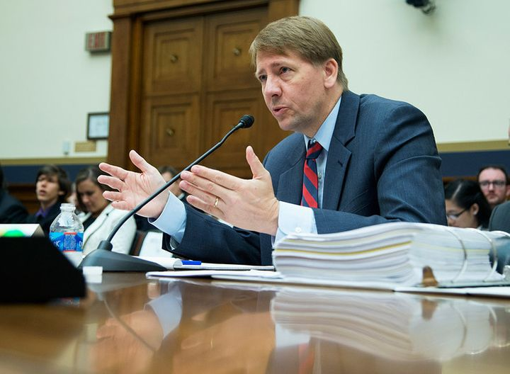 Consumer Financial Protection Bureau Director Richard Cordray testifies on Capitol Hill in 2013.