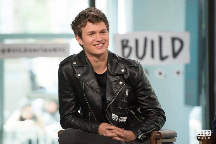 "Ansel Elgort is all smiles at BUILD Series promoting his role as Baby in the critically acclaimed action crime film ""Baby Dri"