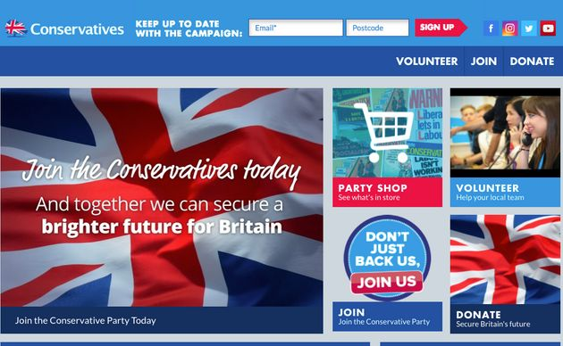 The Conservative Party website on July