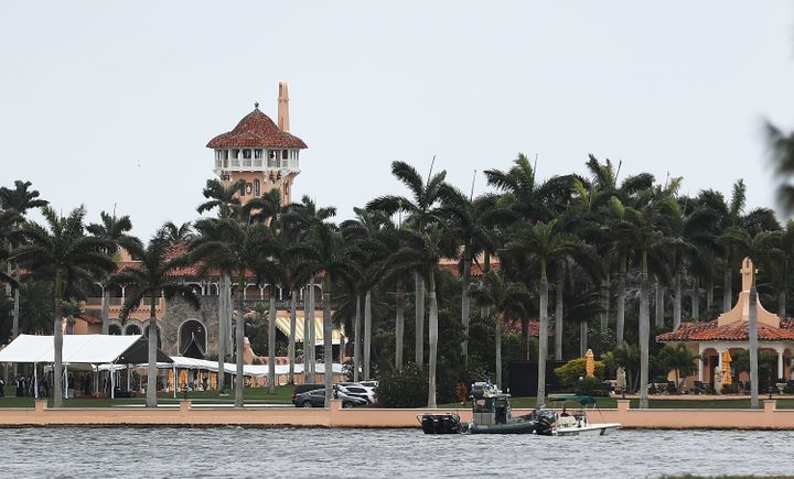 "The area around Mar-a-Lago, the Trump ""Winter White House"" in Palm Beach, Florida, is experiencing chronic tidal"