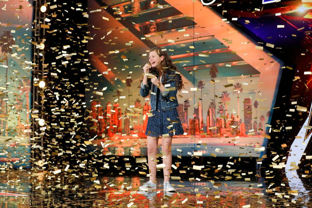 "AMERICA'S GOT TALENT -- ""Auditions"" Episode 1206 -- Pictured: Angelina Green -- (Photo by: Trae Patton/NBC)"
