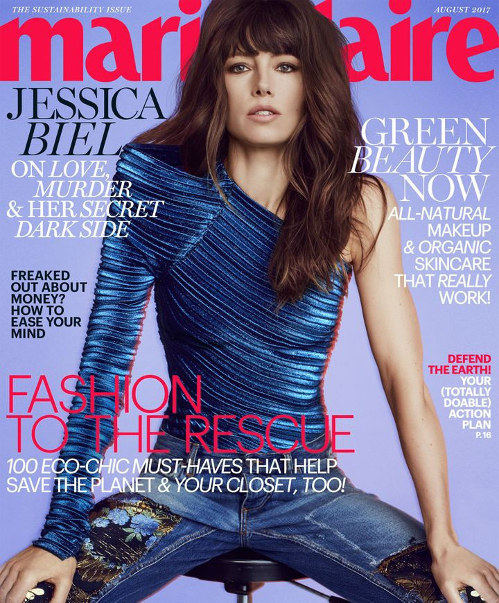 In Marie Claire's August issue, Jessica Biel reflects on motherhood
