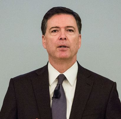NEW YORK, NY - NOVEMBER 18:  Federal Bureau of Investigation (FBI) Director James Comey speaks at a global cyber security symposium at the Federal Reserve Bank of New York on November 18, 2015 in New York City. During the event Manhattan District Attorney Cyrus Vance, Jr. called for a better way for government agencies to access private data in an effort to fight crime.  (Photo by Andrew Burton/Getty Images)