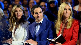 NEW YORK, NY - SEPTEMBER 11:  (L-R) Nina Garcia, Zac Posen, and Heidi Klum attend Project Runway show during Spring 2016 New York Fashion Week: The Shows at The Arc, Skylight at Moynihan Station on September 11, 2015 in New York City.  (Photo by Andrew Toth/FilmMagic)