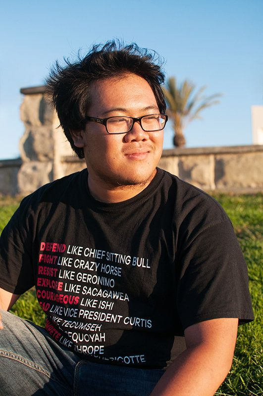 Kenneth, a college student from California, is one of the people featured in Guzman's series.