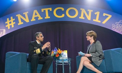 Dr. Vivek Murthy and President and CEO of the National Council for Behavioral Health, Linda Rosenberg.