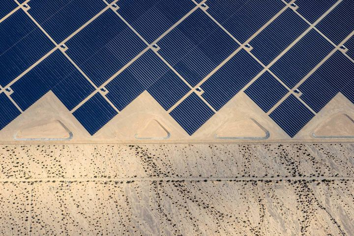 Desert Sunlight Solar Farm where 8 million solar panels power 160, 000 California homes.
