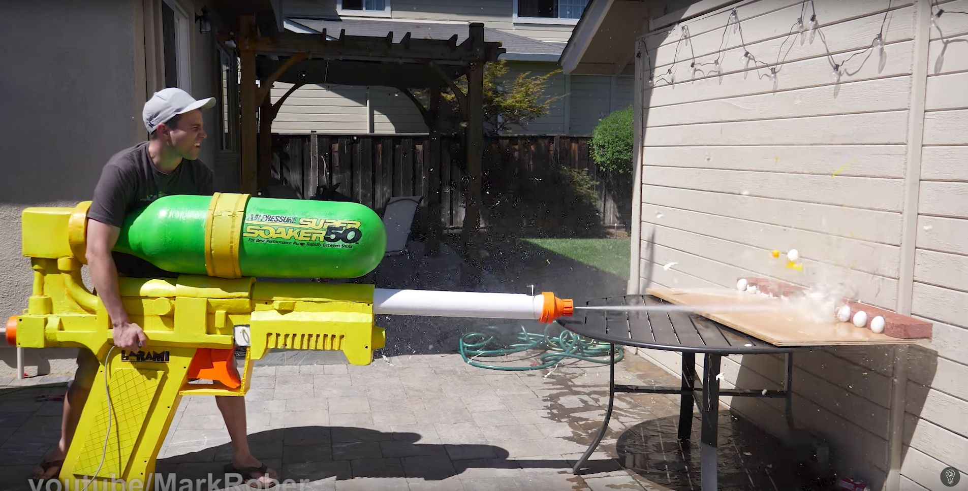 This giant super soaker gun which is seven feet long is competing for a Guinness World Record