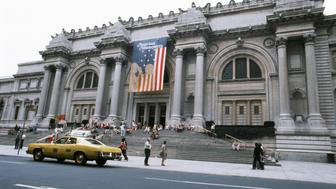 NEW YORK - 1976:  A view of the exterior of The Metropolitan Museum of Art (The Met) located at 5th Avenue and E. 82nd street in1976 in New York City, New York. (Photo by Donaldson Collection/Michael Ochs Archives/Getty Images)