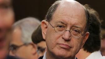 WASHINGTON, DC - JUNE 08:  Rep. Brad Sherman (D-CA) (R) listens to former FBI Director James Comey testify before the Senate Intelligence Committee in the Hart Senate Office Building on Capitol Hill June 8, 2017 in Washington, DC. Sherman has called for articles of impeachment against President Donld Trump. Comey said that President Donald Trump pressured him to drop the FBI's investigation into former National Security Advisor Michael Flynn and demanded Comey's loyalty during the one-on-one meetings he had with president.  (Photo by Chip Somodevilla/Getty Images)