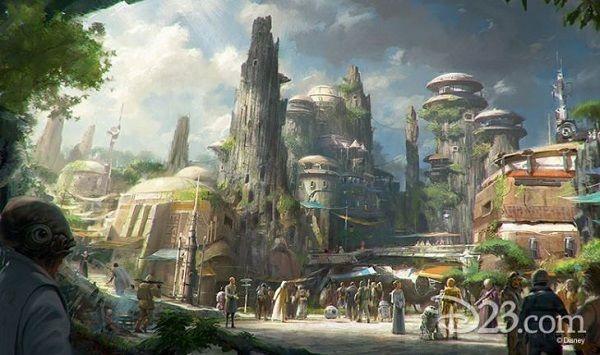<em>Star Wars</em> themed land concept art