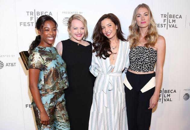 Samira Wiley, Elisabeth Moss, Reed Morano and Yvonne Strahovski attend the premiere of