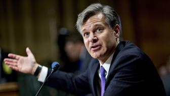Christopher Wray, director of the Federal Bureau of Investigation (FBI) nominee for U.S. President Donald Trump, speaks during a Senate Judiciary Committee nomination hearing in Washington, D.C., U.S., on Wednesday, July 12, 2017. Wray pledged strict independence if confirmed to head the FBI, as senators focused on his ability to pursue investigations independently amid revelations about a meeting the president's son held with a Russian lawyer during last years campaign. Photographer: Andrew Harrer/Bloomberg via Getty Images