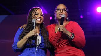 NEW ORLEANS, LA - JULY 01:  Director Ava DuVernay and Oprah Winfrey attend the 2016 Essence Festival - Day 2 at Ernest N. Morial Convention Center on July 1, 2016 in New Orleans, Louisiana.  (Photo by Bennett Raglin/WireImage)