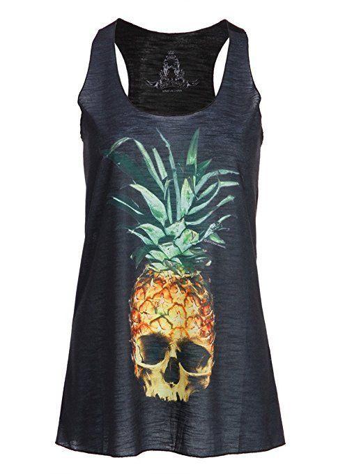 """<a href=""""https://www.amazon.com/Womens-Black-Pineapple-Skull-Muscle/dp/B00V0RKXKE/ref=sr_1_14?amp=&ie=UTF8&keywords=pineapple"""