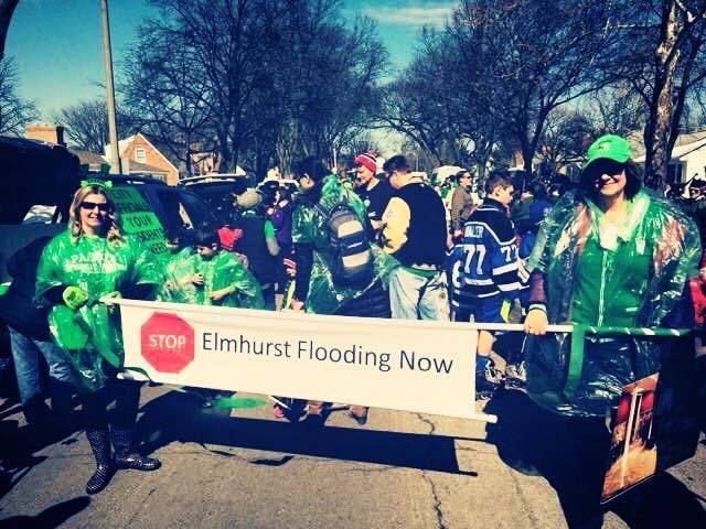 "Members of the Elmhurst, Ill., group ""Stop Elmhurst Flooding Now"""