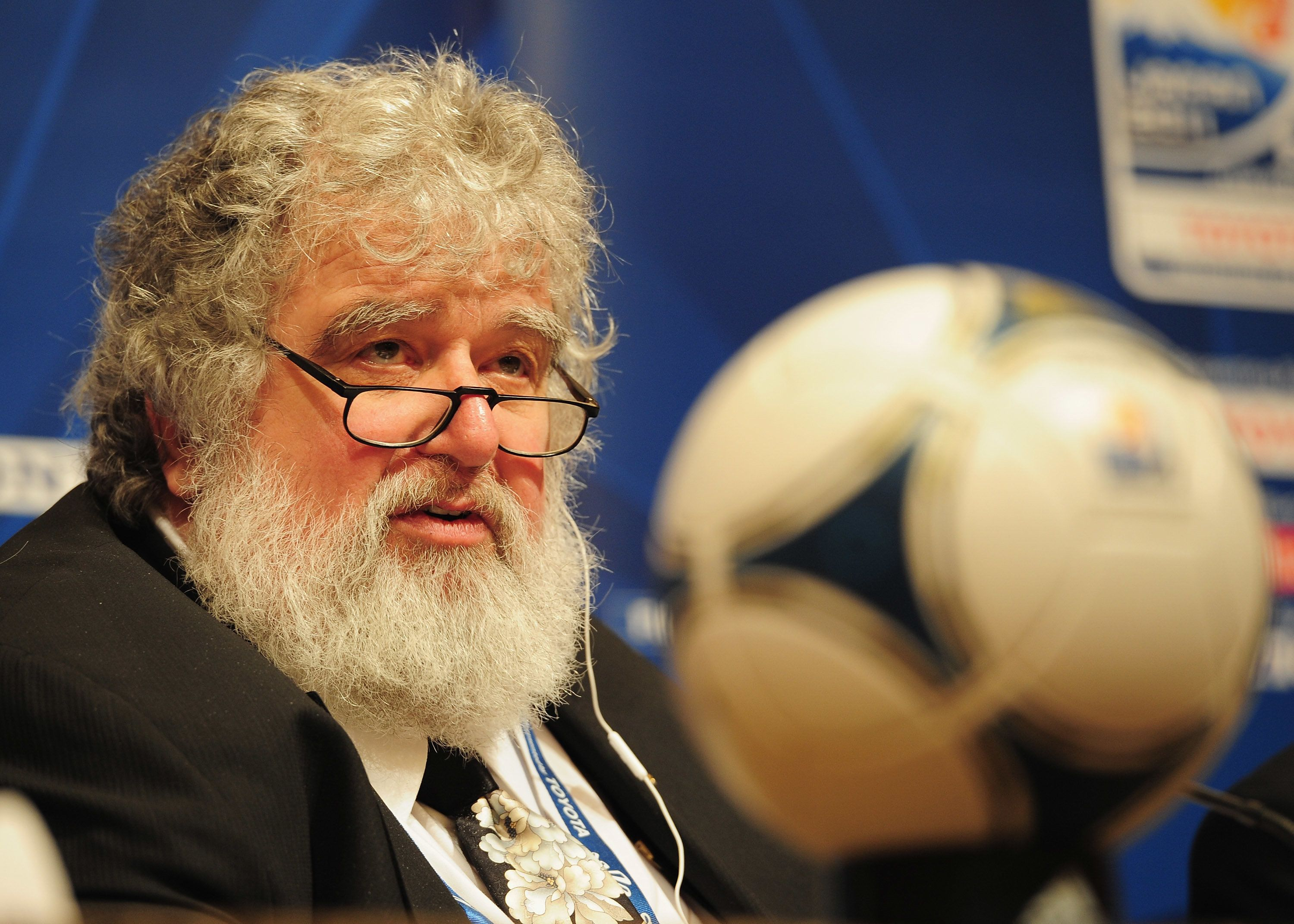 NAGOYA, JAPAN - DECEMBER 07:  Chuck Blazer Chairman of the Organising Committee for the FIFA Club World Cup talks to the media during the FIFA Club World Cup Organising Committee Press Conference at Nagoya Marriott Associa Hotel on December 7, 2011 in Nagoya, Japan.  (Photo by Shaun Botterill - FIFA/FIFA via Getty Images)