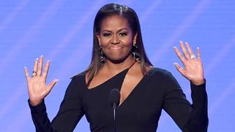 LOS ANGELES, CA - JULY 12:  Former First Lady Michelle Obama speaks onstage at The 2017 ESPYS at Microsoft Theater on July 12, 2017 in Los Angeles, California.  (Photo by Kevin Winter/Getty Images)