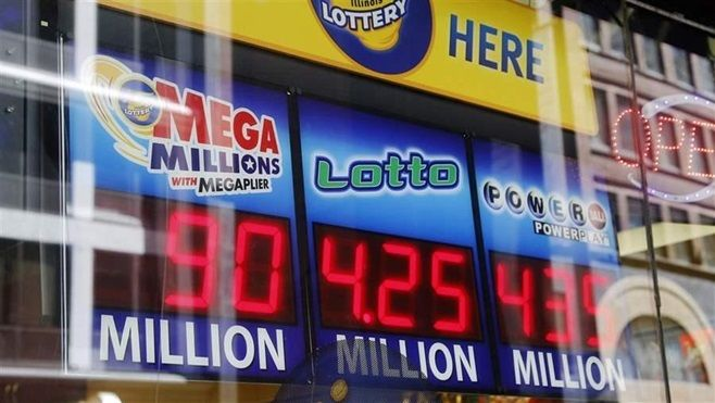 Signs display lottery jackpots in Chicago. States are constantly revising their games to keep up interest and revenue.