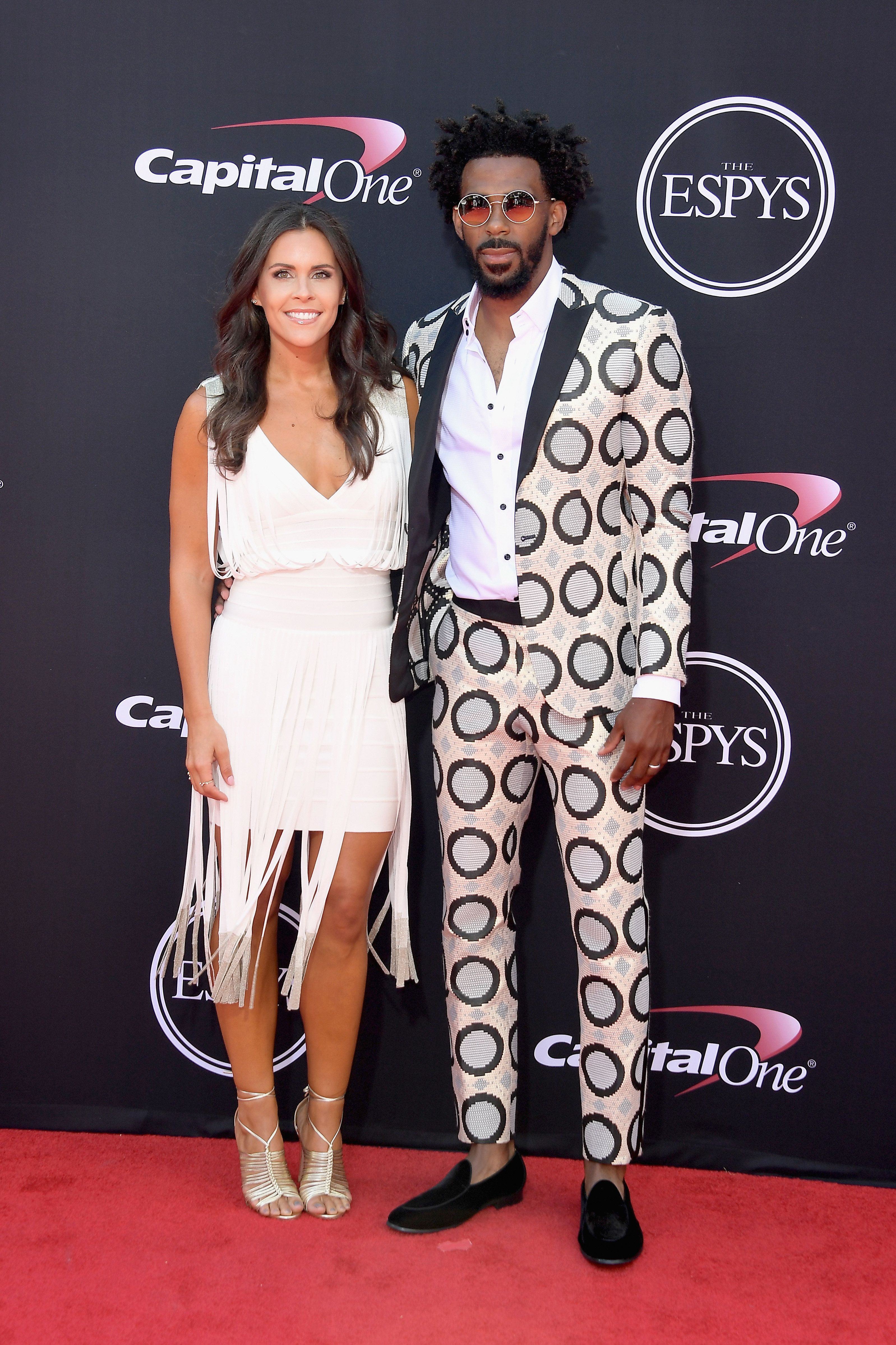 LOS ANGELES, CA - JULY 12:  NBA player Mike Conley Jr. (R) and Mary Conley attend The 2017 ESPYS at Microsoft Theater on July 12, 2017 in Los Angeles, California.  (Photo by Matt Winkelmeyer/Getty Images)