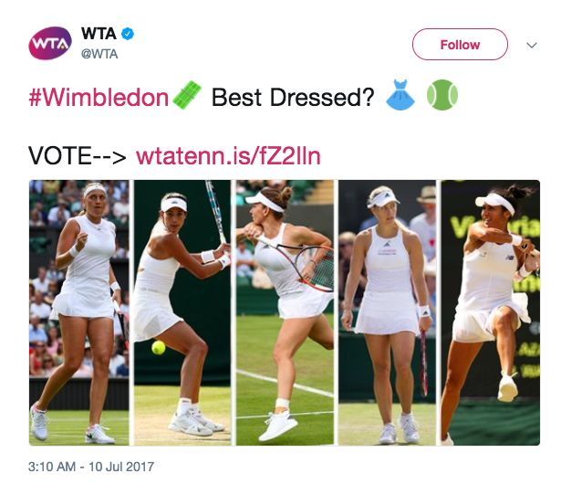 Women's Tennis Association Asks Fans To Vote For 'Best Dressed' Female Player, Gets