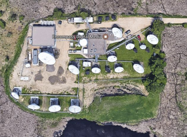 <p>Lino Lakes ground station (Google).</p>