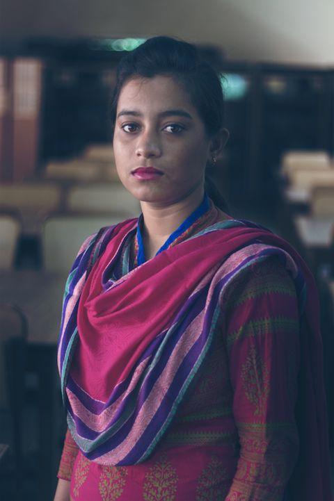 Kalyani, sobrevivente do tráfico sexual infantil e participante na Escola de
