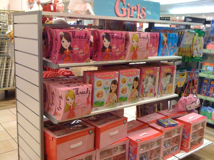 Girls toys. You can tell because they're pink.