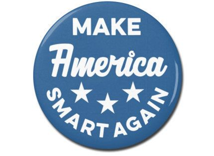 "<a href=""https://www.etsy.com/listing/494226600/make-america-smart-again-button-125-or?ga_order=most_relevant&ga_search_t"
