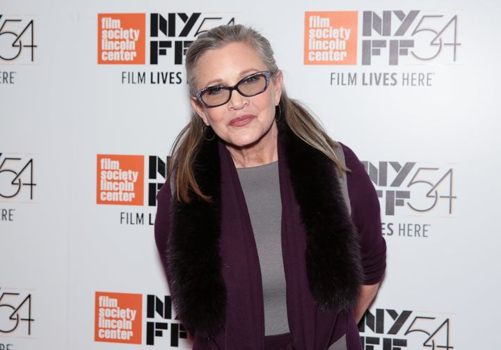Carrie Fisher on Oct. 10, 2016, in New York.