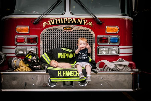 Sweet Newborn Photos Pay Tribute To Firefighter Dad