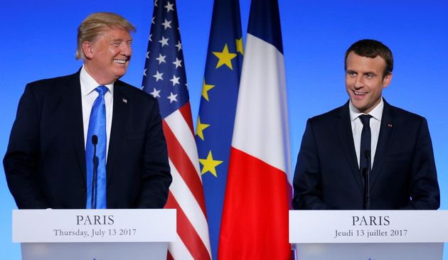 <strong>Trump and Macron, seemingly getting along