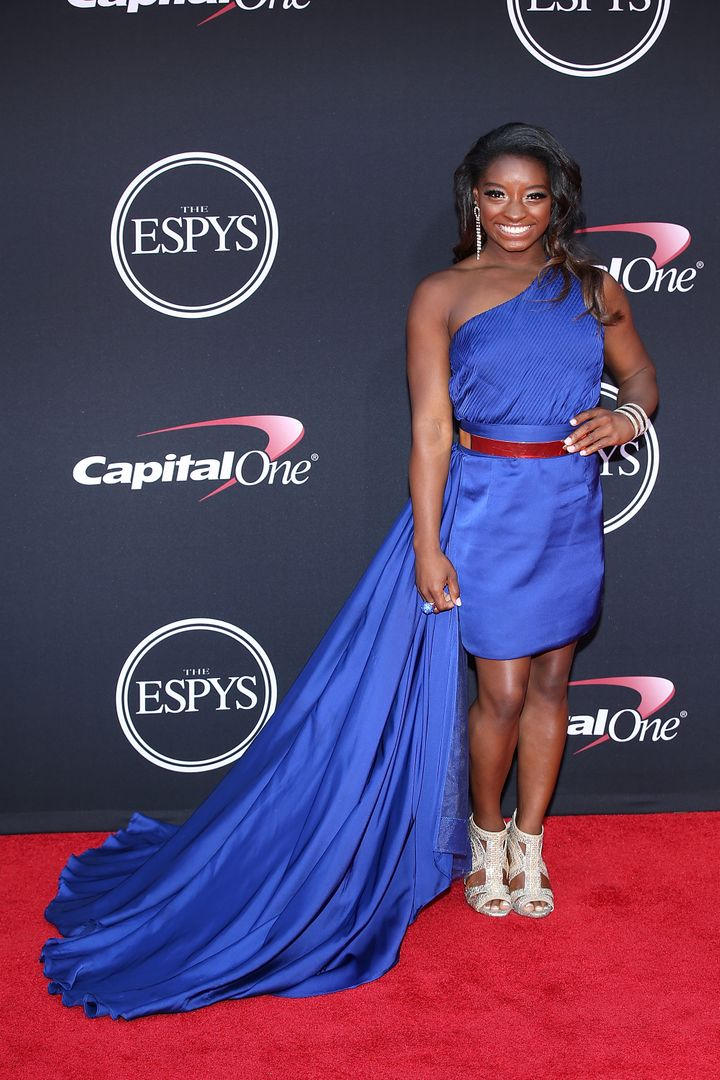 Simone Biles attends The 2017 ESPYs at Microsoft Theater on July 12, 2017 in Los Angeles, California.