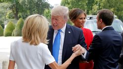 Trump Tells French First Lady She's 'In Such Good