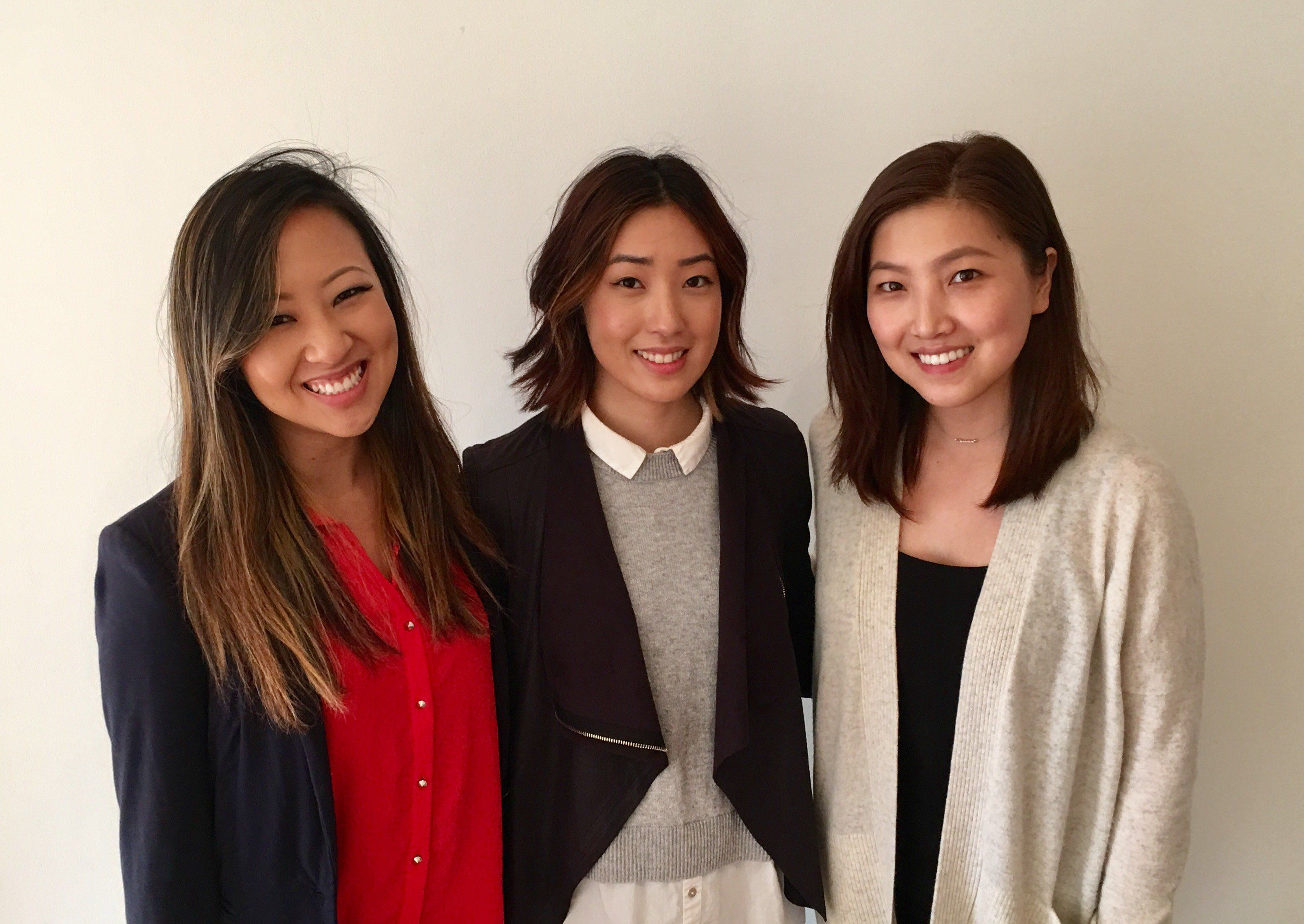 Tech colleaguesAnnie Shin, Tammy Cho and Grace Choi have started a website to help those targeted by sexual harassment.
