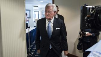 Marc Kasowitz, lawyer for U.S. President Donald Trump, arrives to a news conference at the National Press Club in Washington, D.C., U.S., on Thursday, June 8, 2017. Kasowitz said Comey had revealed himself as part of a group of people in the government 'who are actively attempting to undermine this administration with selective and illegal leaks of classified information and privileged communications,' by acknowledging he asked a friend to tell a reporter the contents of a memo he wrote documenting a conversation with Trump. Photographer: Zach Gibson/Bloomberg via Getty Images