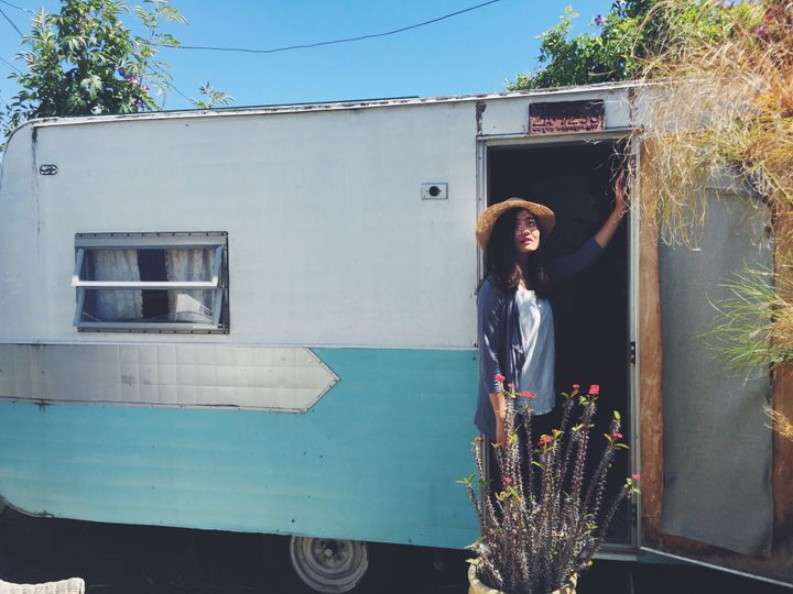 <p>trailer in venice beach, california</p>