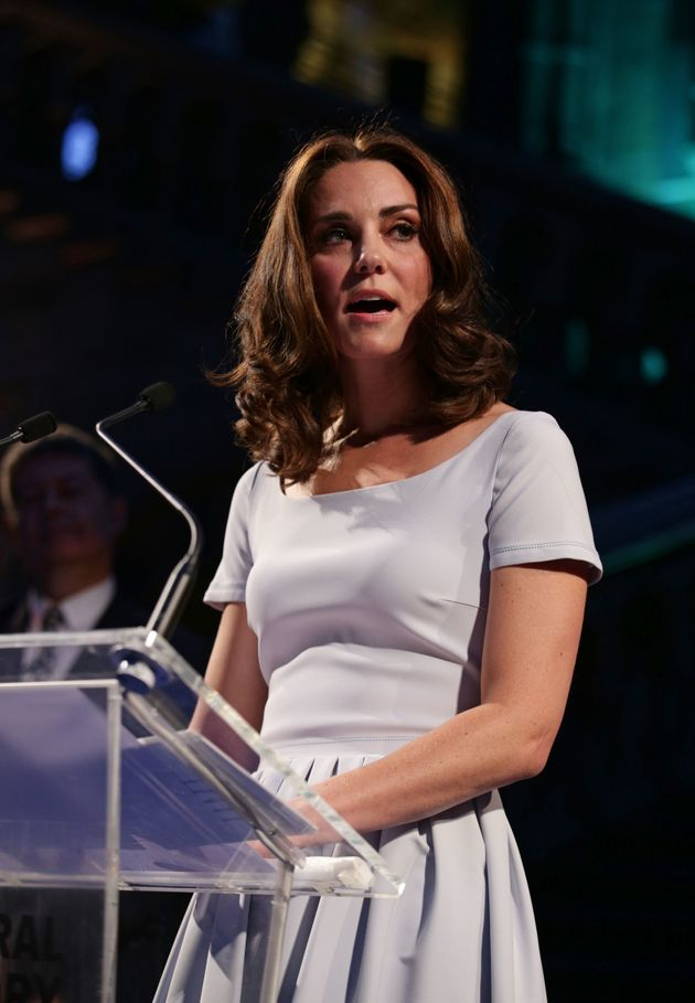 Duchess of Cambridge makes a speech during the reopening of Hintze Hall at the Natural History Museum...