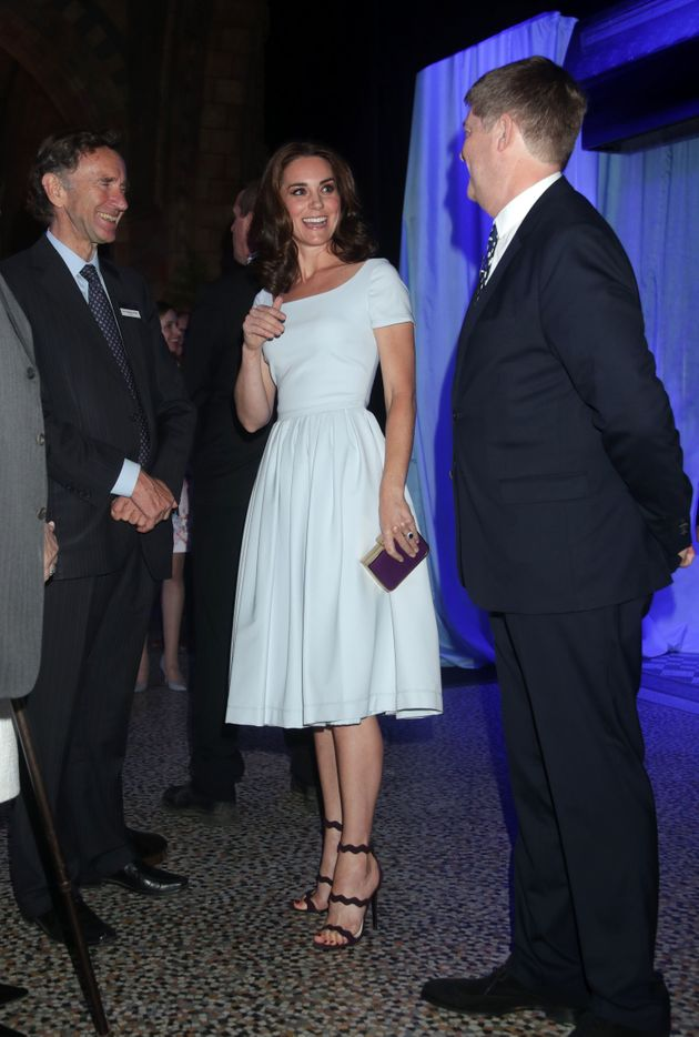 Duchess of Cambridge, attends the reopening of Hintze Hall at the Natural History Museum in London on...