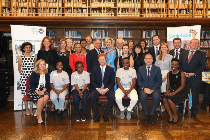 Roundtable attendees with Prince Harry at the London School of Hygiene & Tropical Medicine