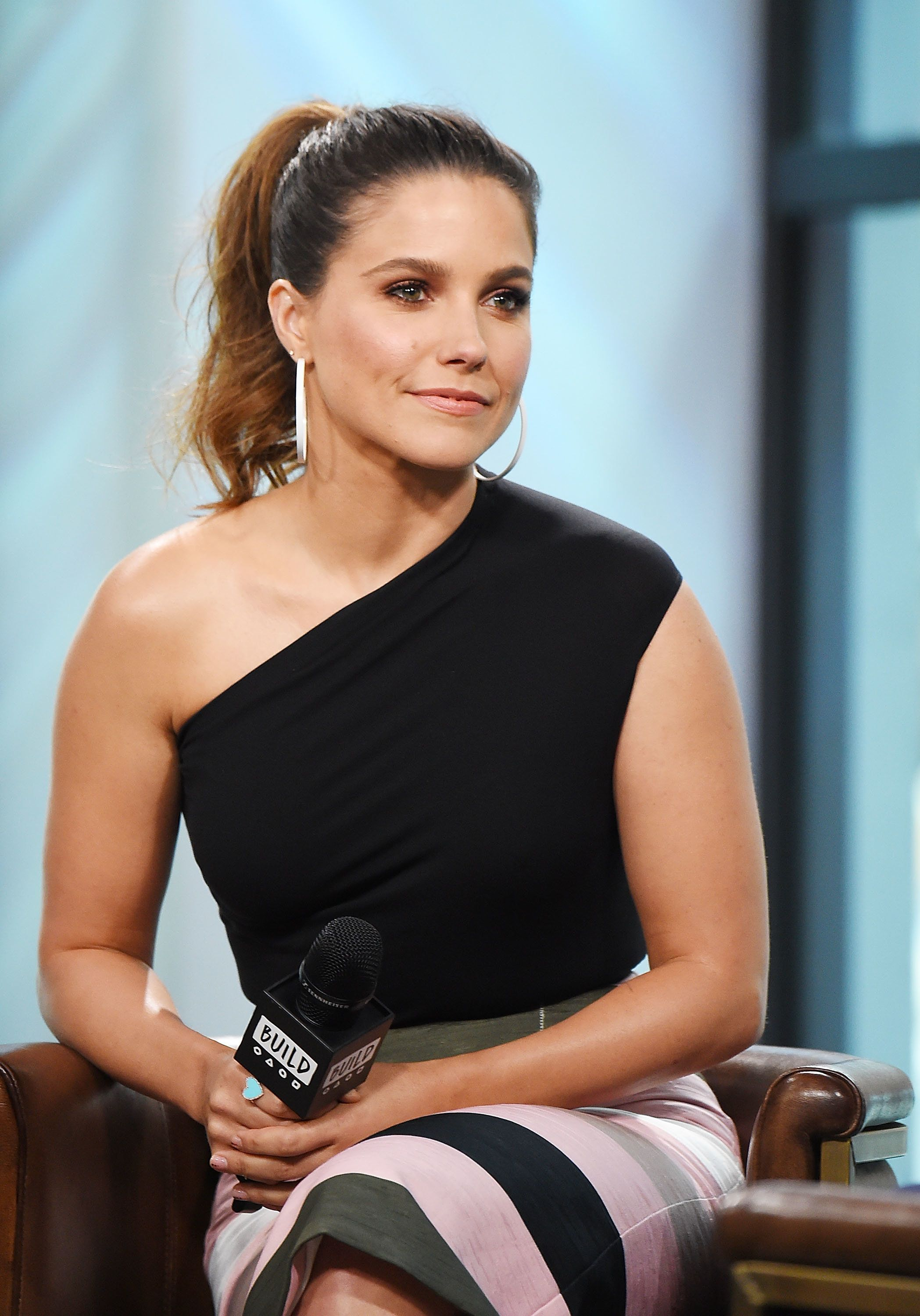 NEW YORK, NY - JULY 13:  Actress Sophia Bush visits the Build Series to discuss The #NoHormonesPlz Initiative at Build Studio on July 13, 2017 in New York City.  (Photo by Michael Loccisano/Getty Images)