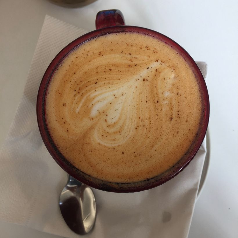 My first Red Latte in Cape Town. My attempts to replicate it did not look this good.