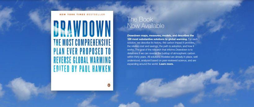 "New York Times bestselling book, ""Drawdown"""