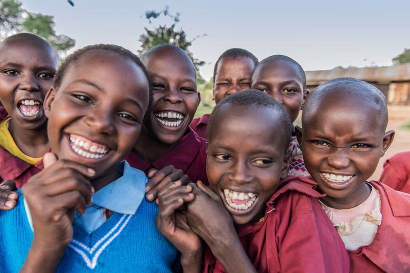 Girls at Ewaso Primary School in Ewaso, in Laikipia in Northern Kenya. © Ami Vitale