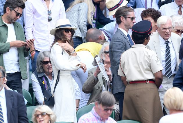 Pippa Middleton Wears All White To Wimbledon And Looks Incredibly