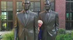 Bill Clinton Takes Cheeky Photo Between Two
