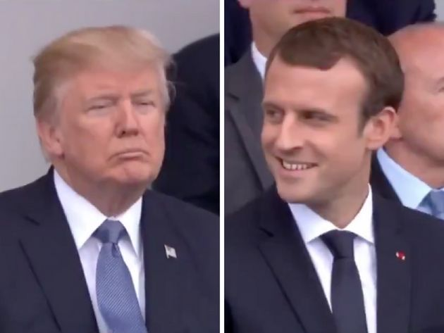 Trump's And Macron's Reactions To Daft Punk Medley Could Not Be More